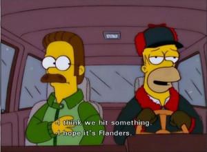 the simpsons homer simpson ned flanders