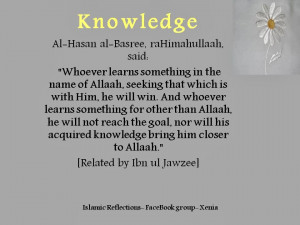 Islamic Quotes About Education