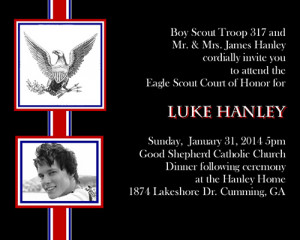 eagle scout invitations and thank you cards @ it#39;s all about the ...