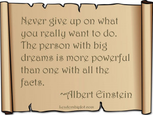 Albert Einstein Quote on Determination and Dreams