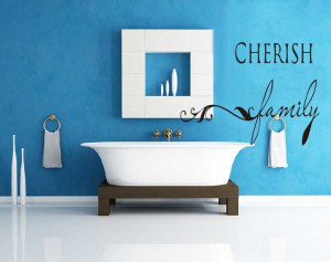 Cherish family quotes wall stickers