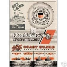 US Coast Guard Canvas Quotes Scrapbooking Sticker PH