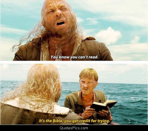 You know you can't read – Pirates of the Caribbean