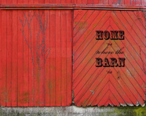 Old Red Barn Photo - Rustic Fine Ar t Wall Decor - Weathered Barn ...