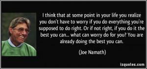 More Joe Namath Quotes