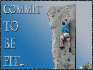 Commit to be fit ~ Exercise Quote