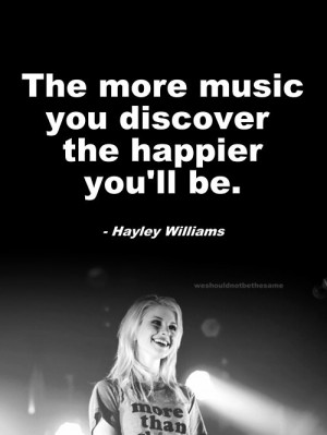 guess I gotta put Hayley Williams on my 30+ list of bands to look up ...
