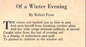 Short Robert Frost Famous Poems