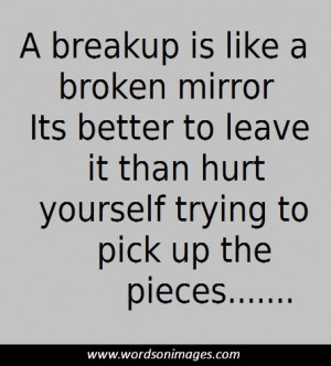 Positive breakup ...
