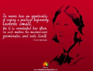 Florence Nightingale Motivational Quote