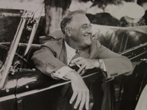 Franklin Roosevelt at his home in Hyde Park, NY, 1937 (Photo: Franklin ...