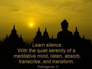 Learn To Listen Quotes Learn silence with the quiet