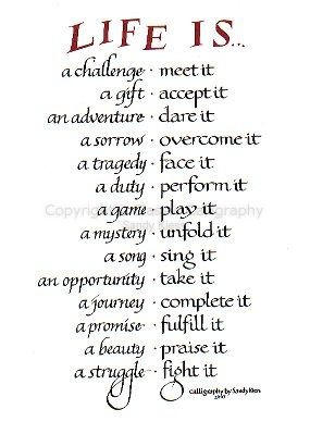 Life Is a Blessing Poem | Image of calligraphy P8-56 Life is a ...