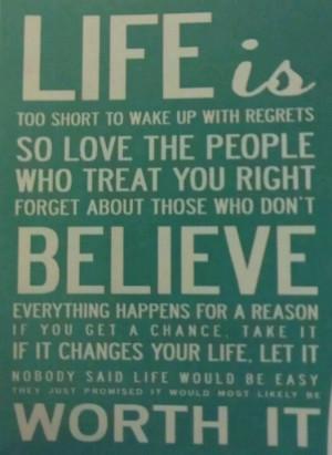 Life is worth it x