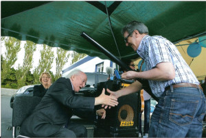 The President of Ireland Michael D. Higgins congratulates Stephen ...