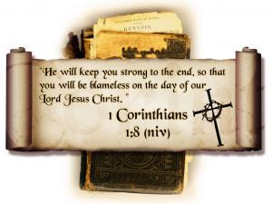 Bible Verses 1 Corinthians 1:8 He Will Keep You HD Wallpaper
