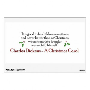 Christmas Carol Quote Decal Wall Decals