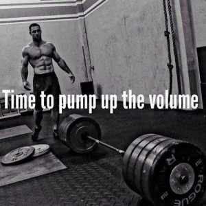 Time to pump up the volume