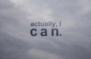 can do it Picture Quote