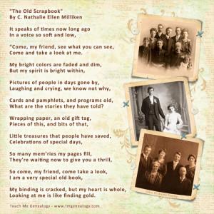 The Old Scrapbook - Poem By C. Nathalie Ellen Milliken