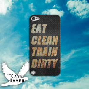 Eat Clean Train Dirty Quote Gym Crossfit Motivation Cool Metal Custom ...