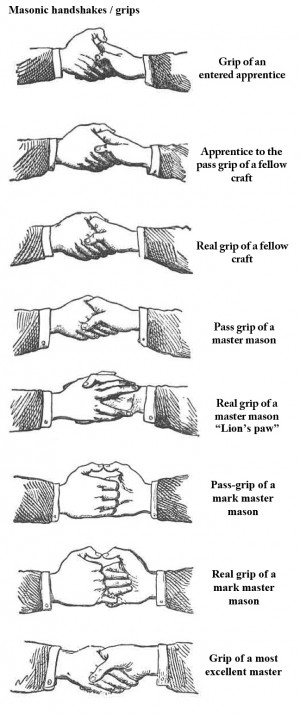 Even the type of grip they hold can identify which Masons are of the ...