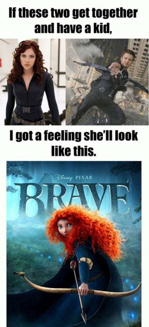 The Black Widow + Hawkeye =