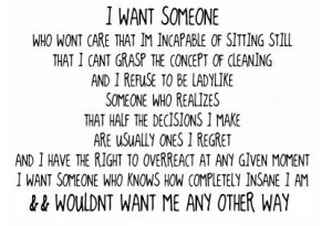 want someone