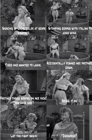 Love Lucy: Grape Stomping