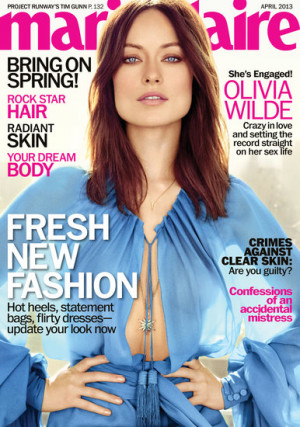Olivia Wilde Marie Claire Pictures and Jason Sudeikis Quotes
