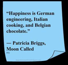 Patricia Briggs ♥ ~ #Quote #Author #Happiness