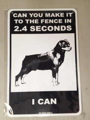 Funny Dog Warning Sign Pictures Images Quotes Picture