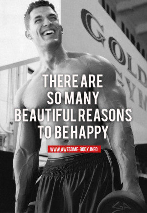 Train and be happy | bodybuilding motivational quotes