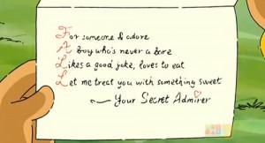 Secret Admirer Quotes...