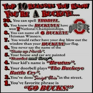 You're a Buckeye....