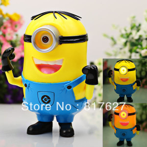 Plastic-Made-Cute-One-eyed-Despicable-Me-The-Minion-Style-Toy-with ...