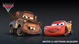 ... de MATE, el mejor amigo de Rayo McQueen, en Cars 2: World Grand Prix