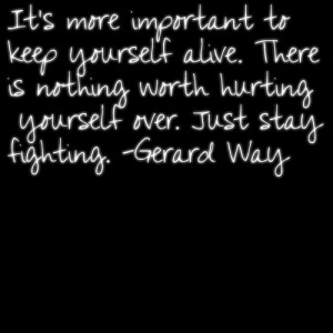 Gerard Way Quotes About Self Harm