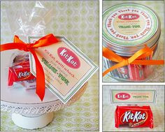 Homemade Gift Idea Candy Sayings Thank-you Kit Kat [411-11-142] - It's ...