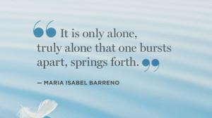 Quotes Solitude Maria...