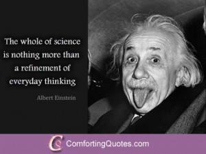 Quote About science by Albert Einstein