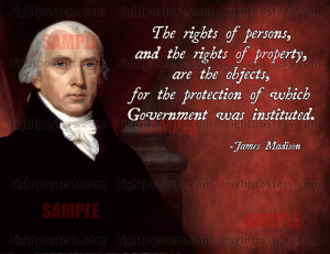 James Madison Property Rights Quote Poster