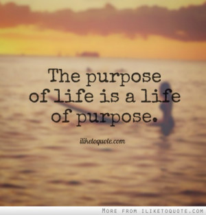 ... your purpose it is suggested that everyone has a life s purpose