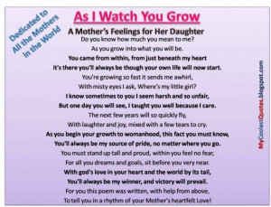 Famous quotes about mothers and daughters love