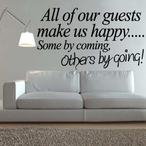 Guest Bedroom Vinyl Wall Decals Stickers Quotes