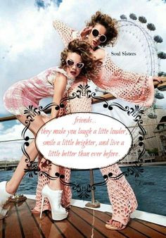 Friendship Quote https://www.facebook.com/pages/Soul-Sisters ...