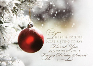... More Fiiting To Say Thank You And To Wish You A Happy Holiday Season
