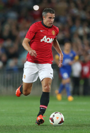 ... photo robin van persie robin van persie of manchester united controls