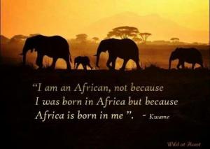 an African