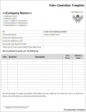 Free Quotation Template Download Page